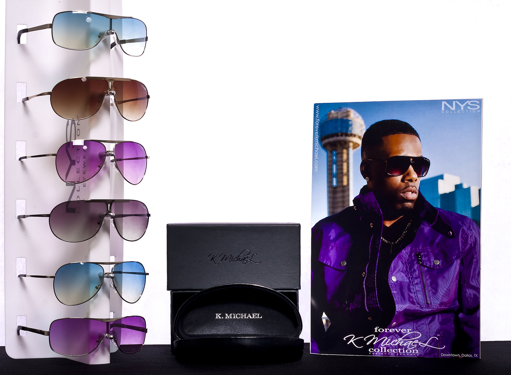 K michael an eyewear brand visionary for Michael m collection