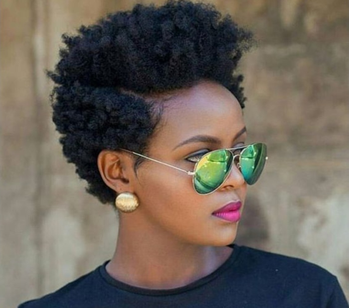 hairstyles natural hair haircuts short african curly styles cuts afro hairstyle 4c tapered court haircut glamour american instagram curtos mohawk
